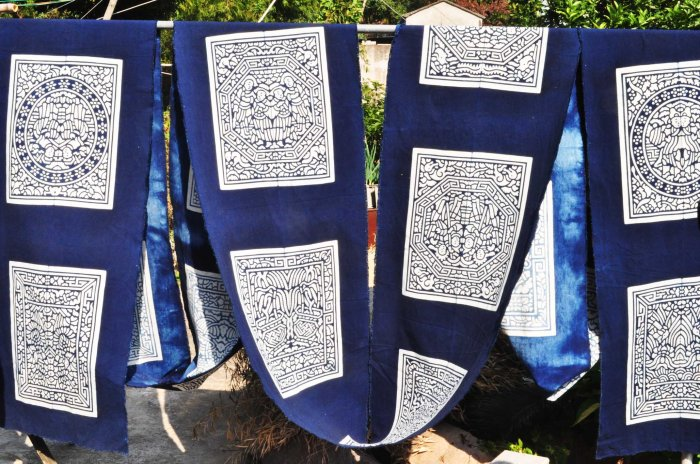 chinese indigo cloth