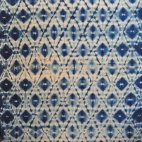 Indigo and coffee on linen