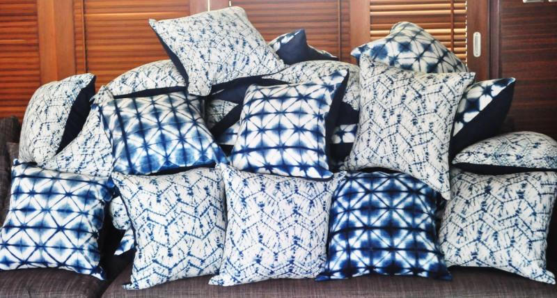 indigo pillows for samui