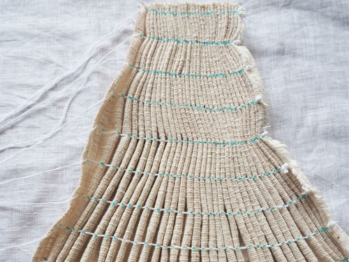 pulling pleats