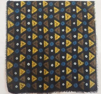 Shibori silk rayon scarf