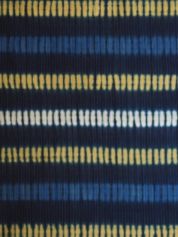 Indigo, myrobalan and turmeric on cotton