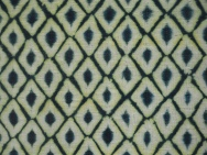 Handwoven cotton dyed with indigo and map hut maphut (Gardenia Dulcis)